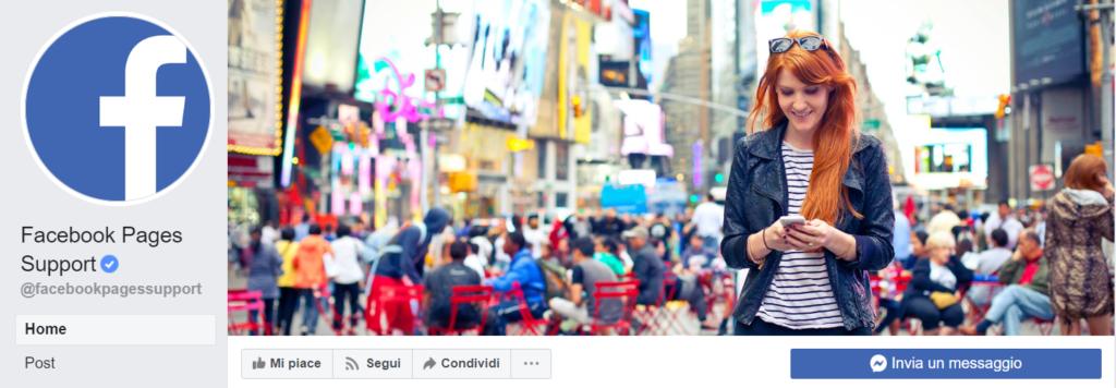 Esempio di foto del profilo e foto di copertina di Facebook