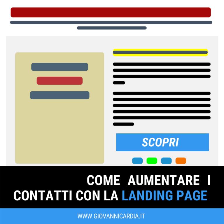 Copertina Aumenta e genera contatti con landing page