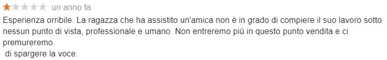 Come aumentare i clienti con gestione recensione negativa 1 stella , azienda definita orribile su Google My Business a Cagliari